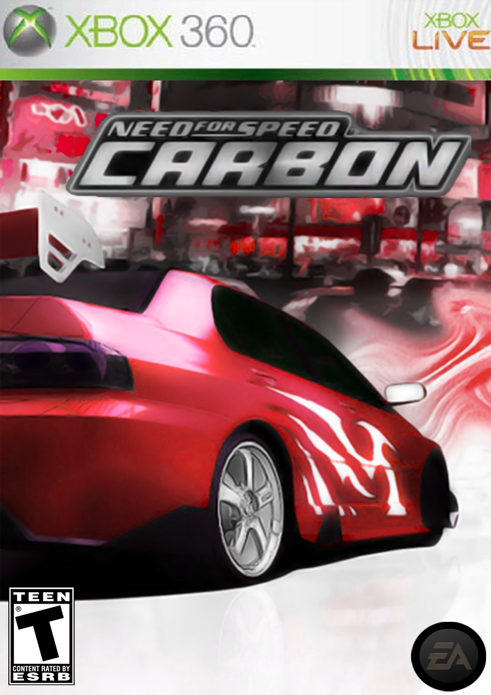 Need For Speed Carbon Xbox 360 Box Art Cover By Lodovicok
