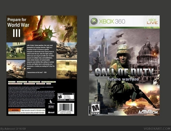 Call of Duty: Future Warfare box art cover