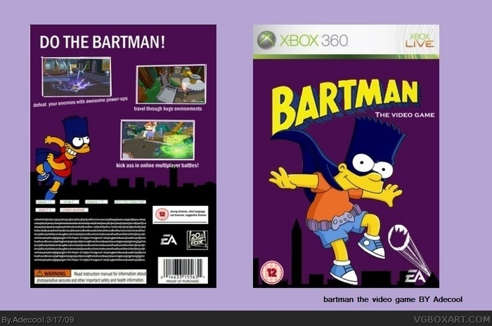 Bartman the video game box art cover
