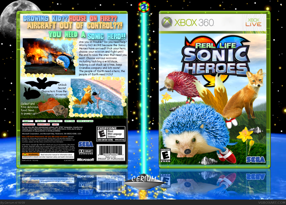 Viewing Full Size Real Life Sonic Heroes Box Cover
