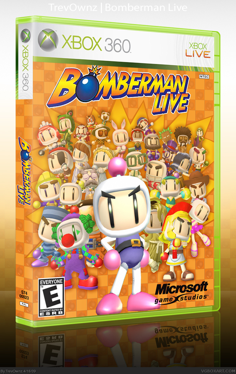 Bomberman Live Xbox 360 Box Art Cover By Trevownz