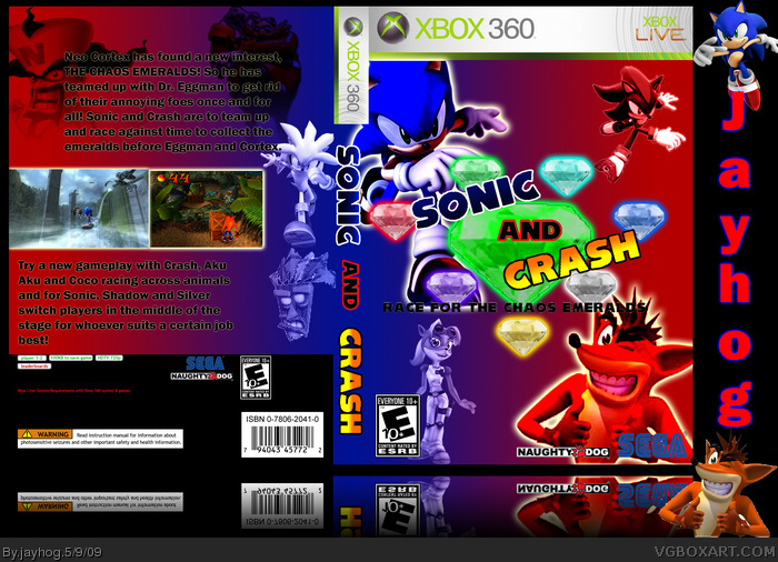 Sonic The Hedgehog & Crash Bandicoot box art cover