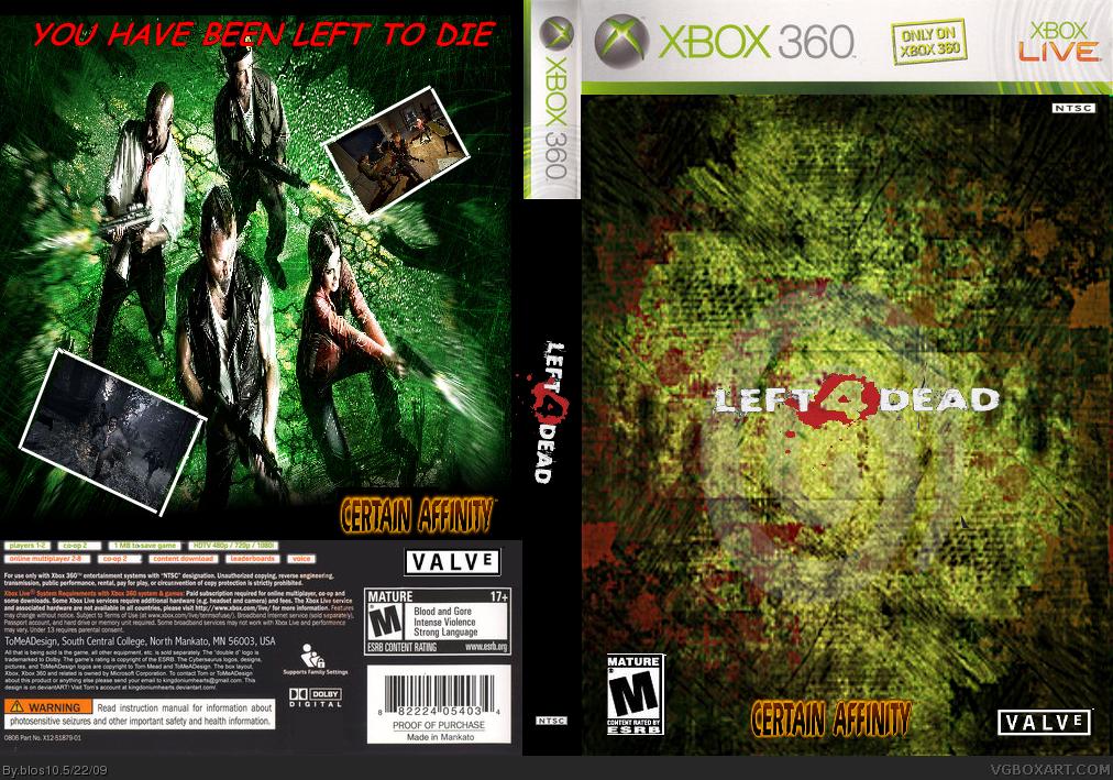 Left 4 Dead Xbox 360 Box Art Cover By Blos10