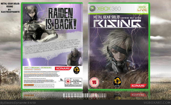 Xbox 360 » Metal Gear Solid: Rising Box Cover