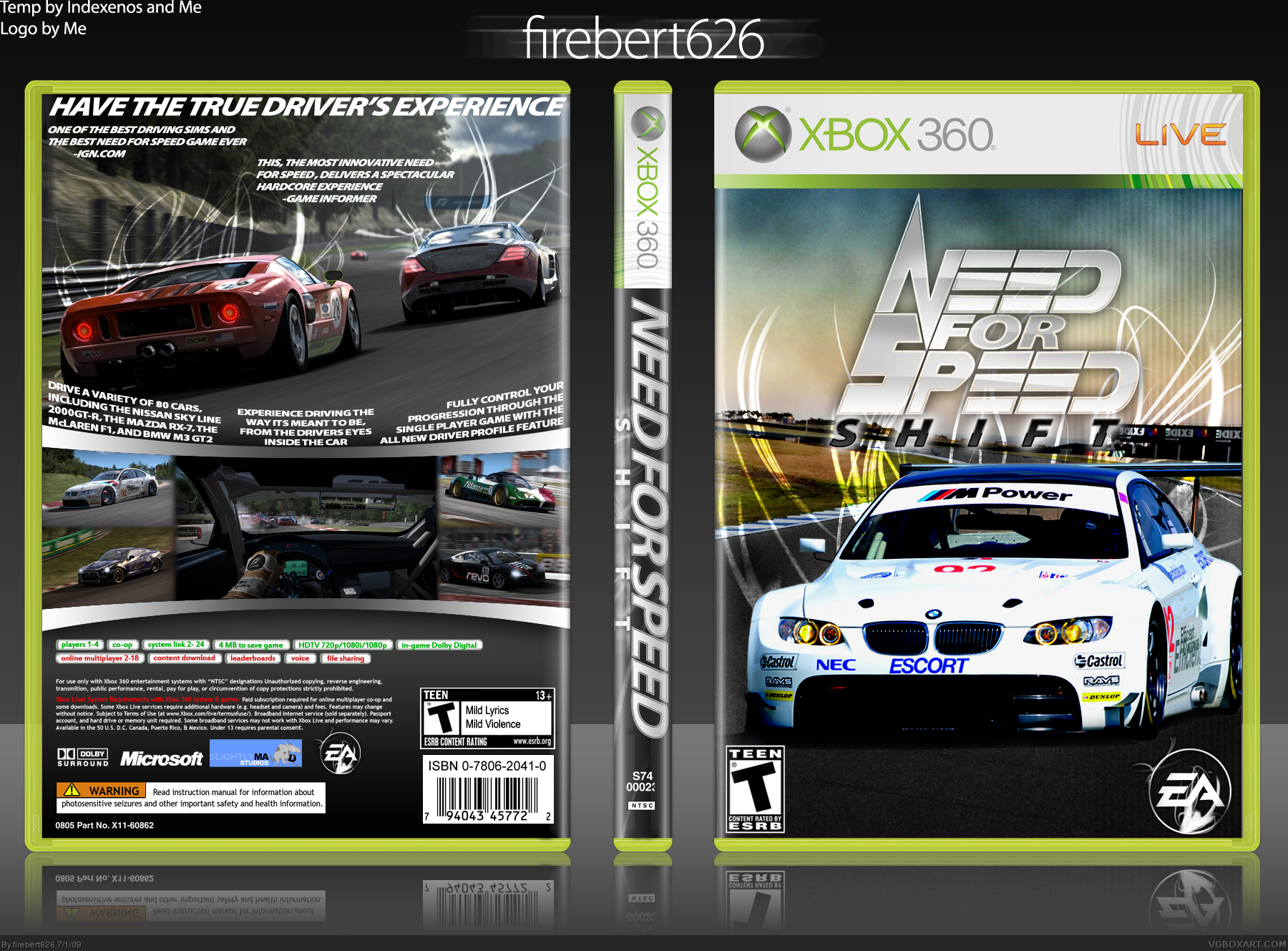 Need for Speed: Shift box cover