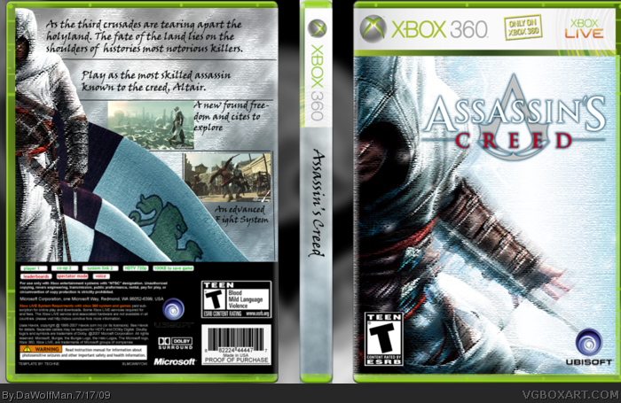 assassins creed xbox 360 box art cover by dawolfman