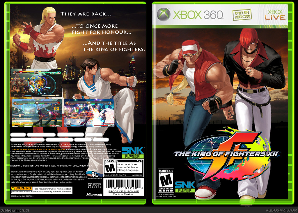 The king of  fighters XII box cover