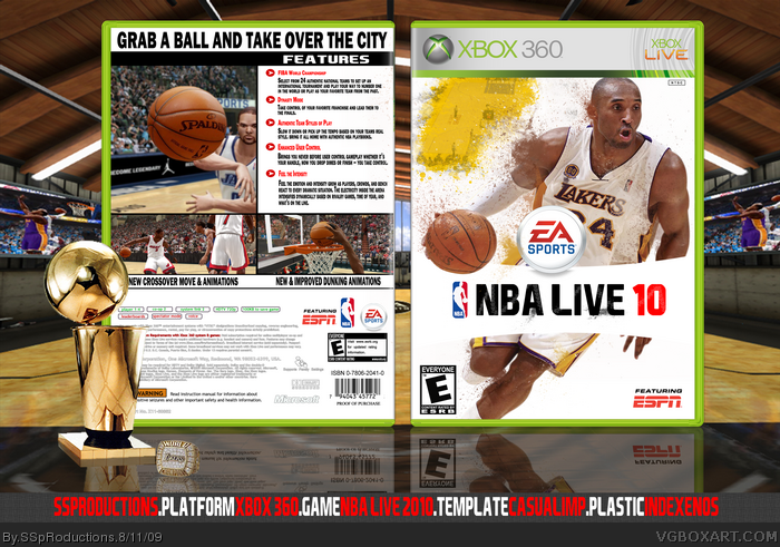 NBA Live 2010 box art cover