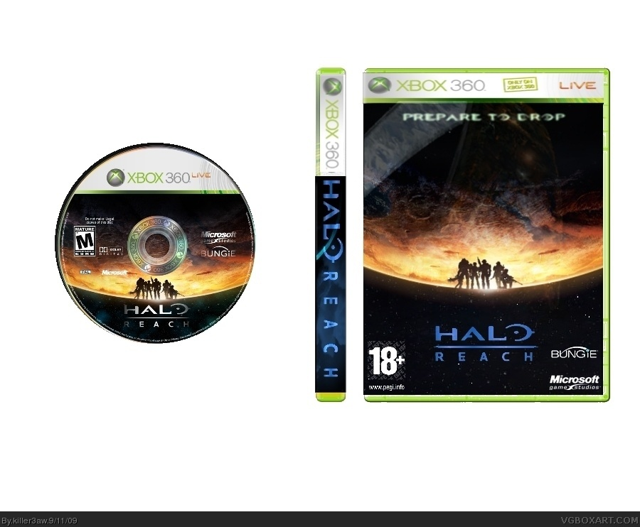 Viewing Full Size Halo Reach Box Cover