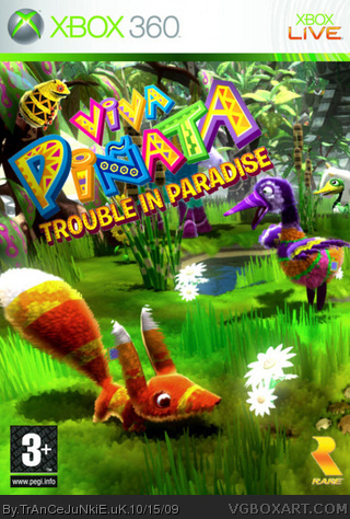Viva Pinata Trouble In Paradise Xbox 360 Box Art Cover By
