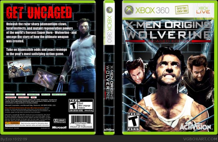 Xbox 360 » X-Men Origins: Wolverine Uncaged Edition Box Cover ? ?