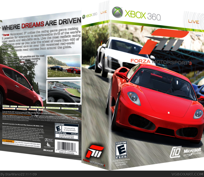Forza Motorsport 3 Box Art Cover