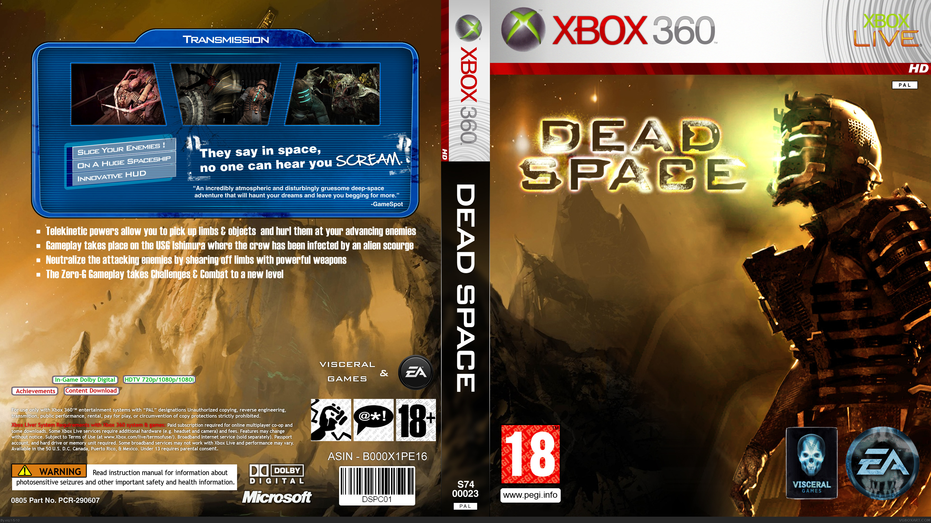 dead space xbox 360 box art cover by xiq rh vgboxart com Dead Space Storyline Review Dead Space