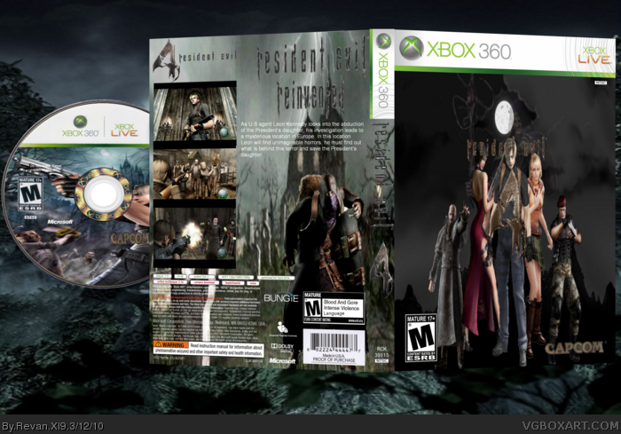 Resident Evil 4  XBOX 360 Edition box art cover