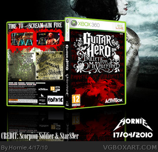 Valentine Boxes on Guitar Hero  Bullet For My Valentine Xbox 360 Box Art Cover By Hornie
