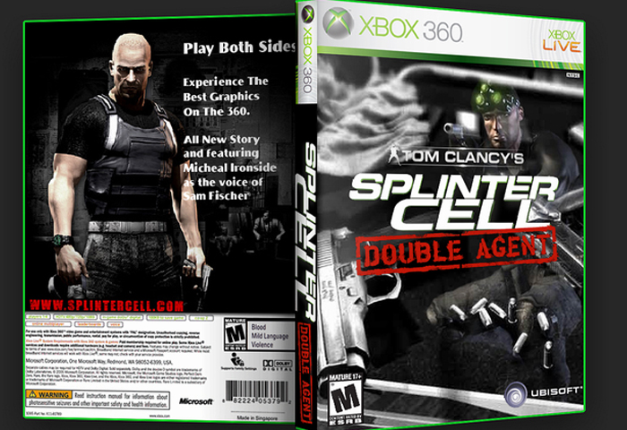 Tom Clancy's Splinter Cell: Double Agent box cover