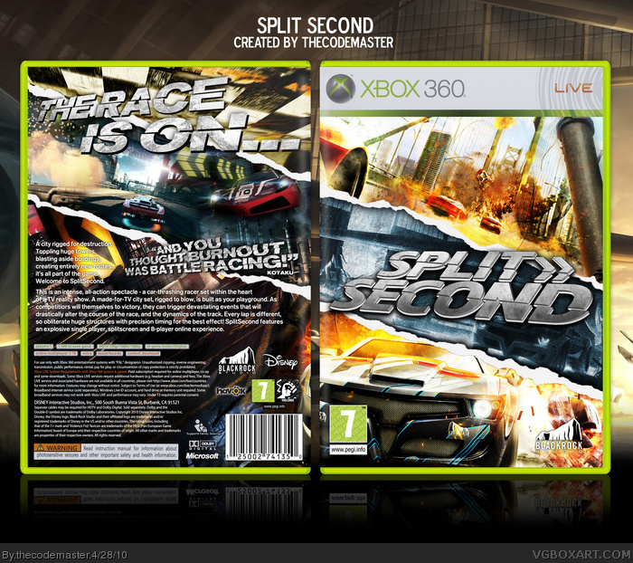 Split Second box art cover