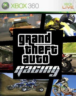 Auto Racing Music on Grand Theft Auto Racing Xbox 360 Box Art Cover By Farhan