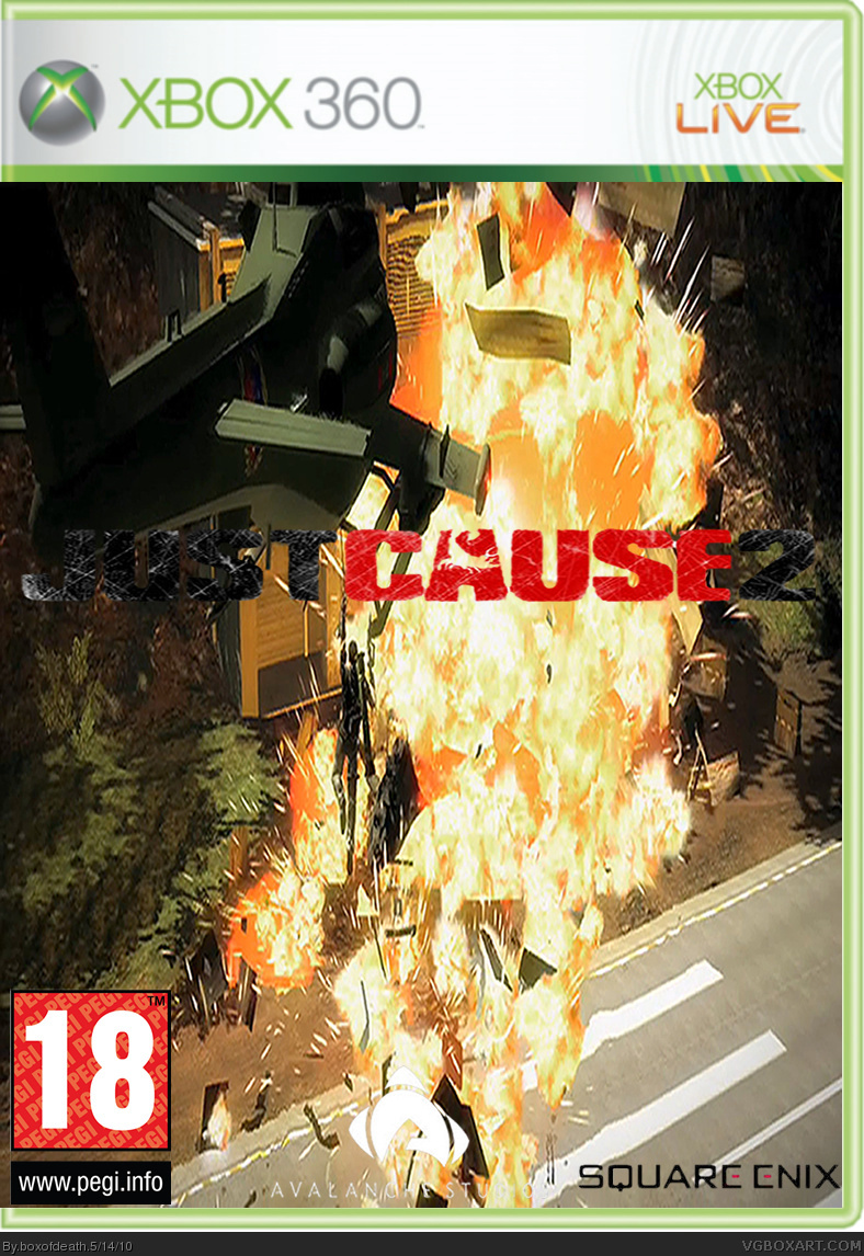 Just Cause 2 box cover