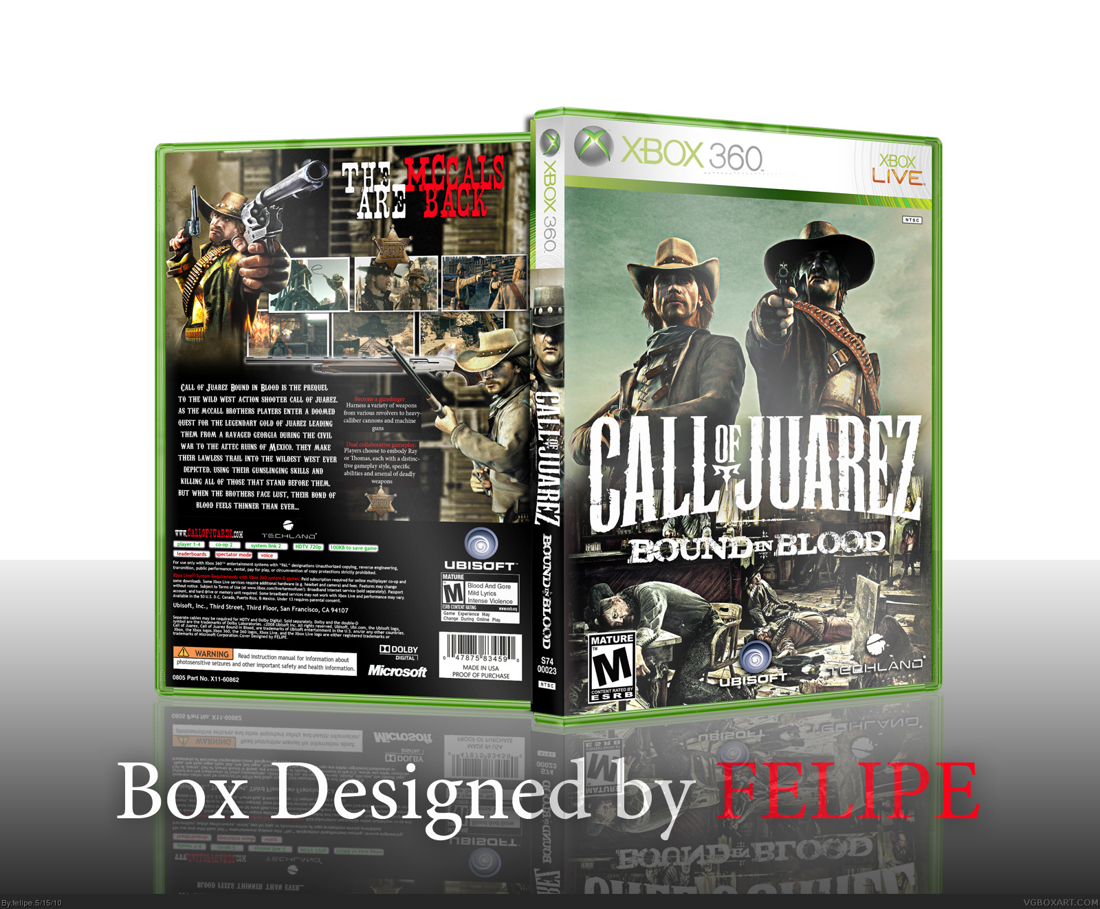 Call of Juarez: Bound in Blood box cover