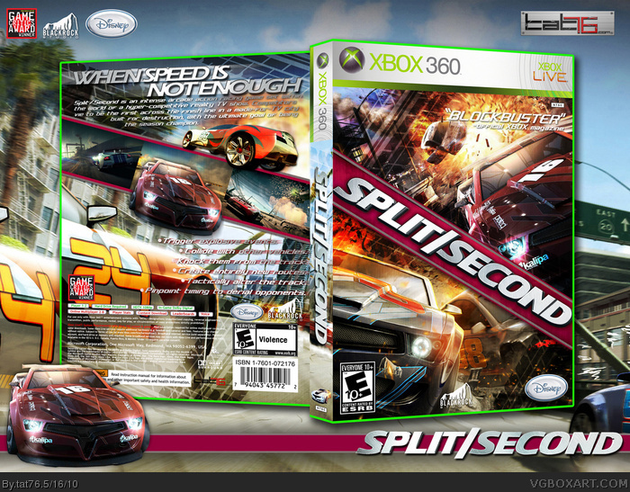 Book Cover Pictures Xbox : Split second xbox box art cover by tat