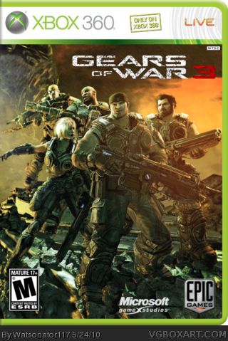 Gears of War 3 box cover
