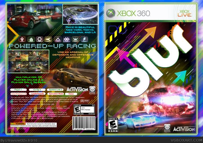 Blur Xbox 360 Box Art Cover By Ultraviolet32x