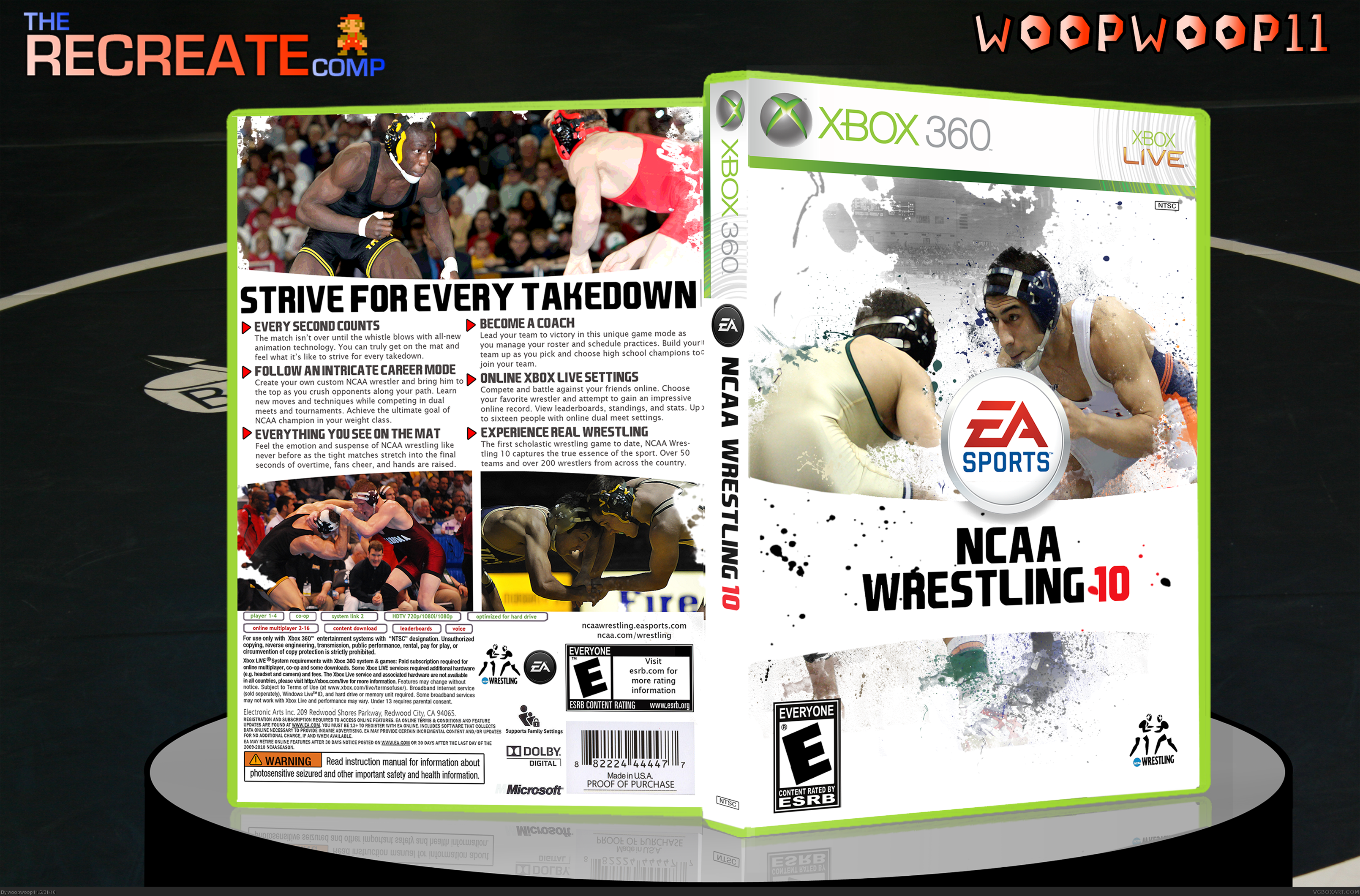 NCAA Wrestling 2010 box cover
