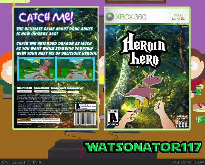 heroin hero xbox 360 box art cover by watsonator117