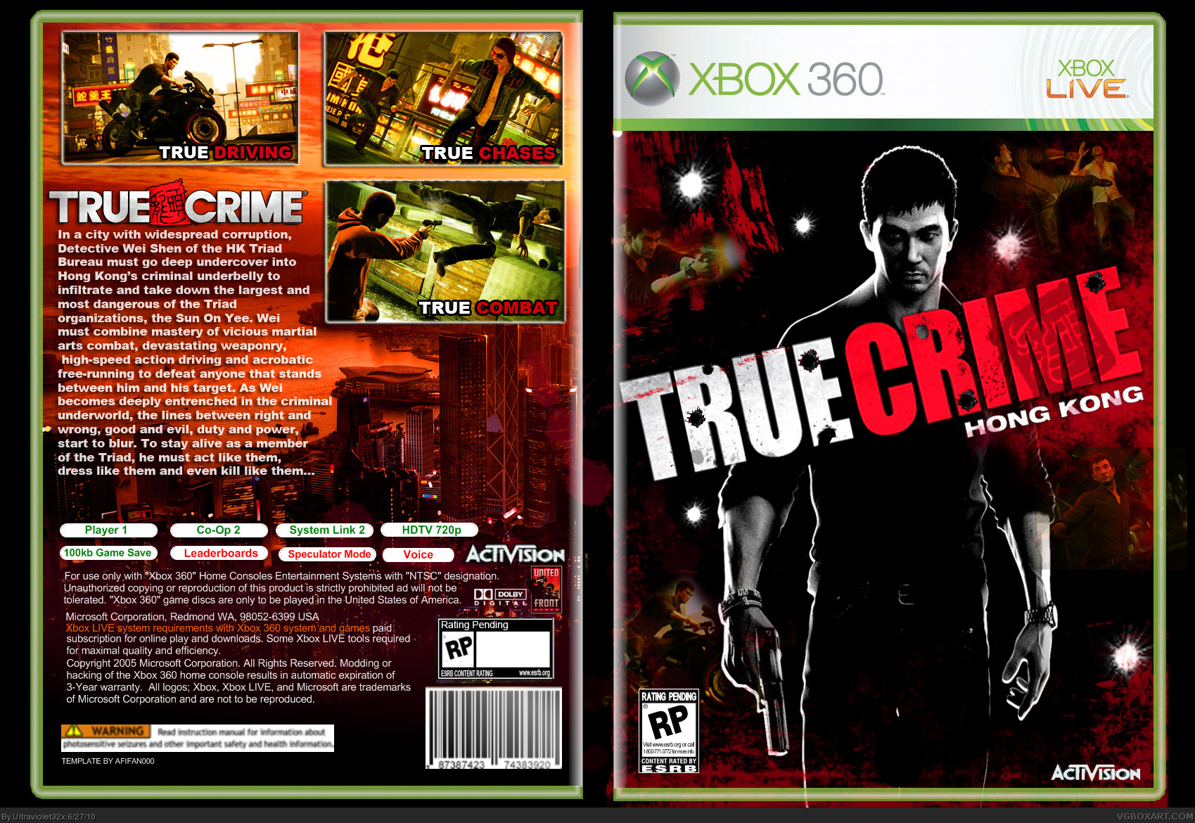 Viewing full size True Crime box cover