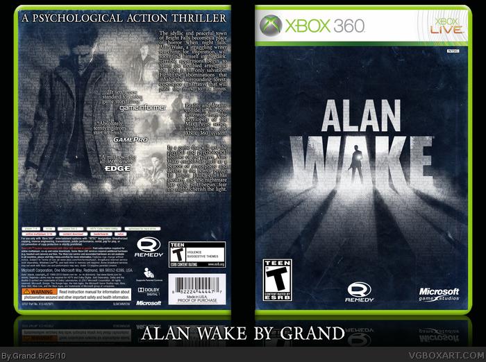 alan wake xbox 360 box art cover by grand