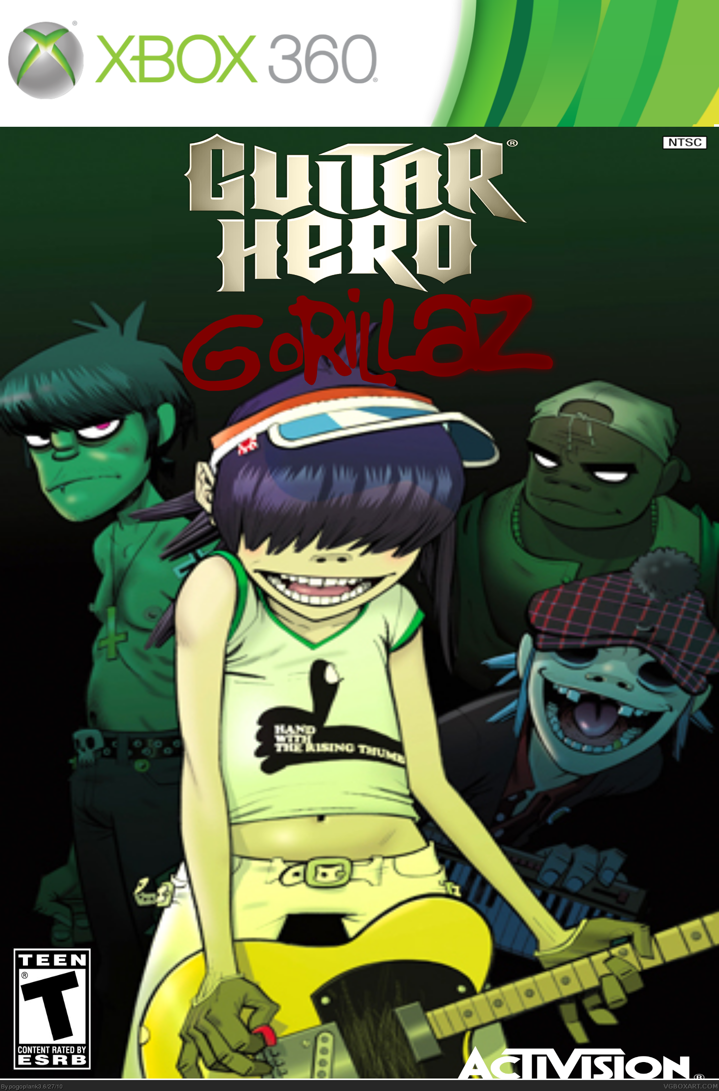 Guitar Hero Gorillaz box cover