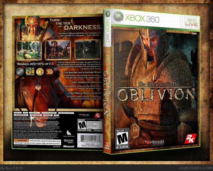the elder scrolls iv  oblivion xbox 360 box art cover by box