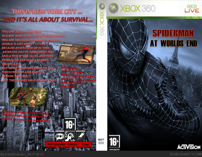 Spiderman: At Worlds End box art cover
