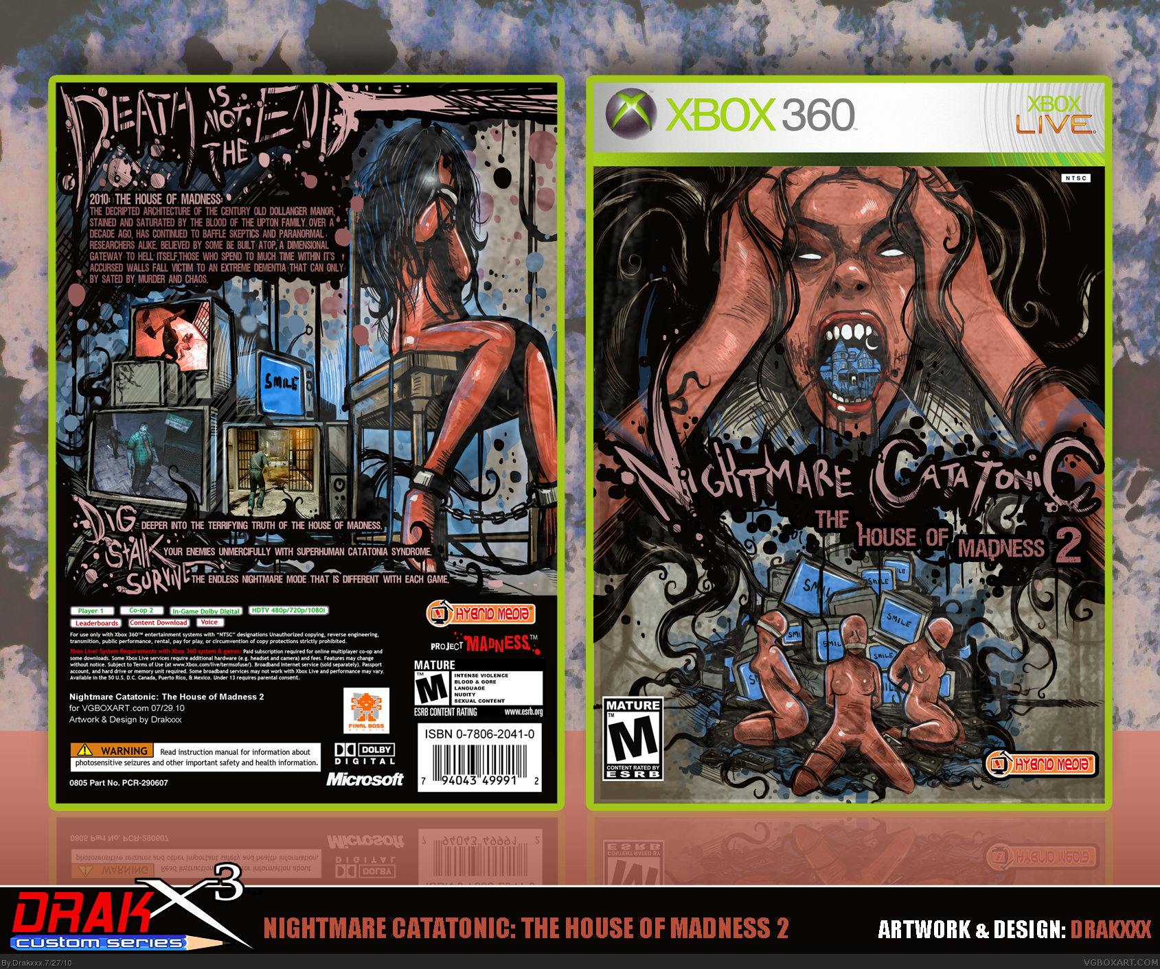 Nightmare Catatonic: The House of Madness 2 box cover