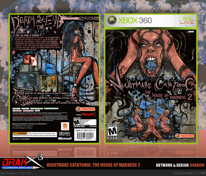 Nightmare Catatonic: The House of Madness 2 box art cover