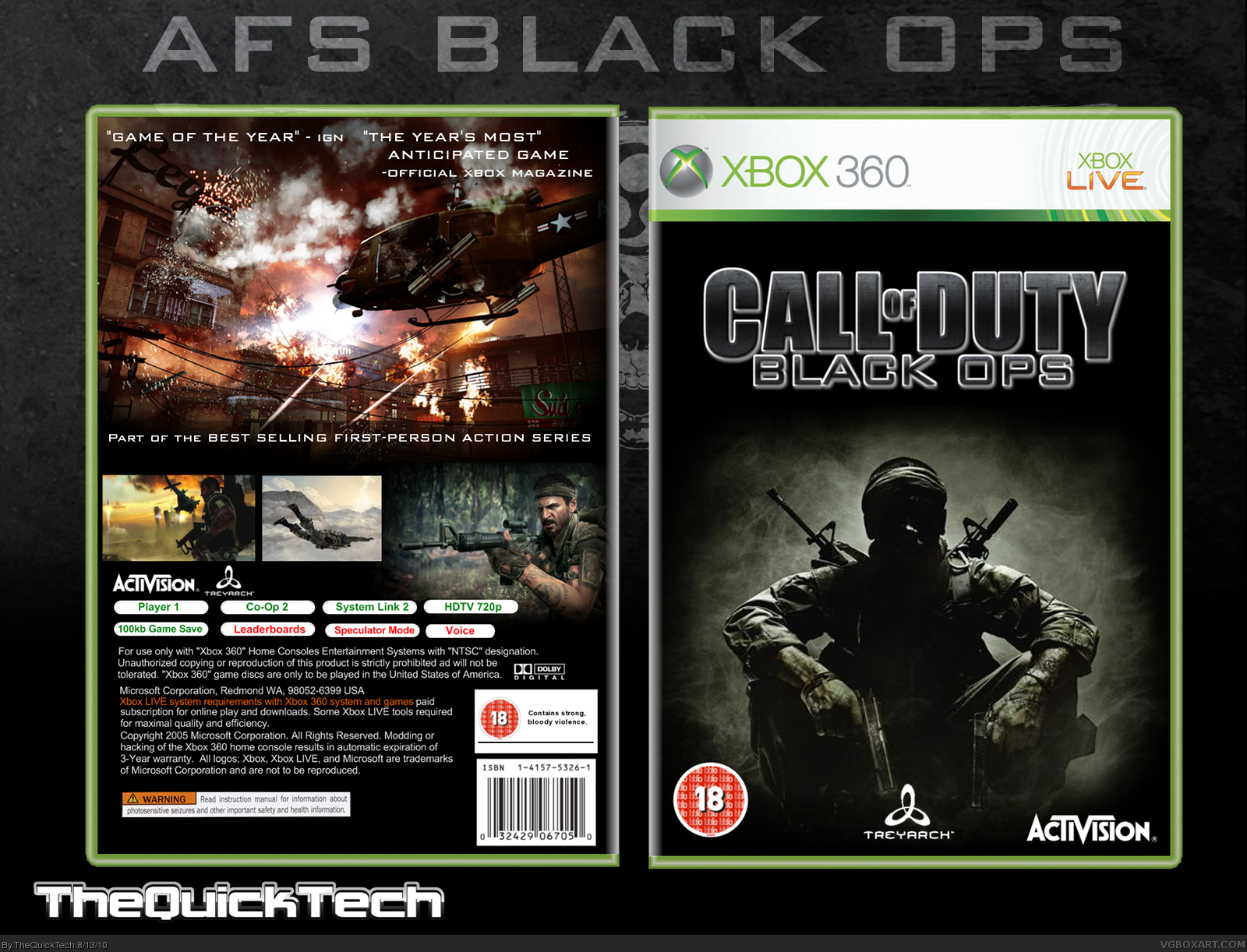 Call of Duty: Black Ops box cover