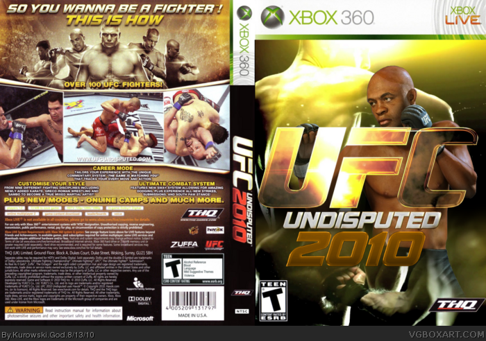 UFC Undisputed 2010 box art cover