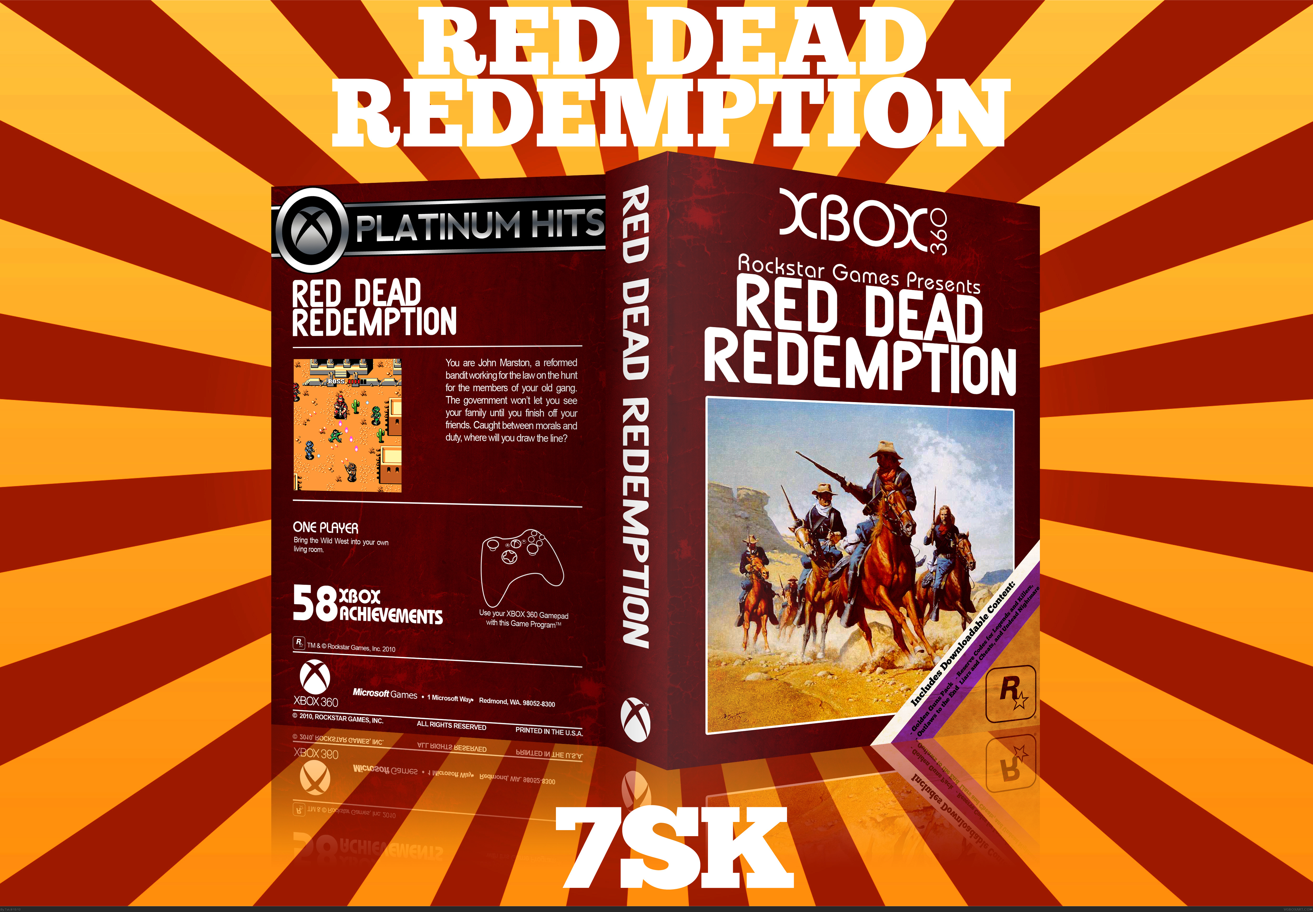 Red Dead Redemption box cover