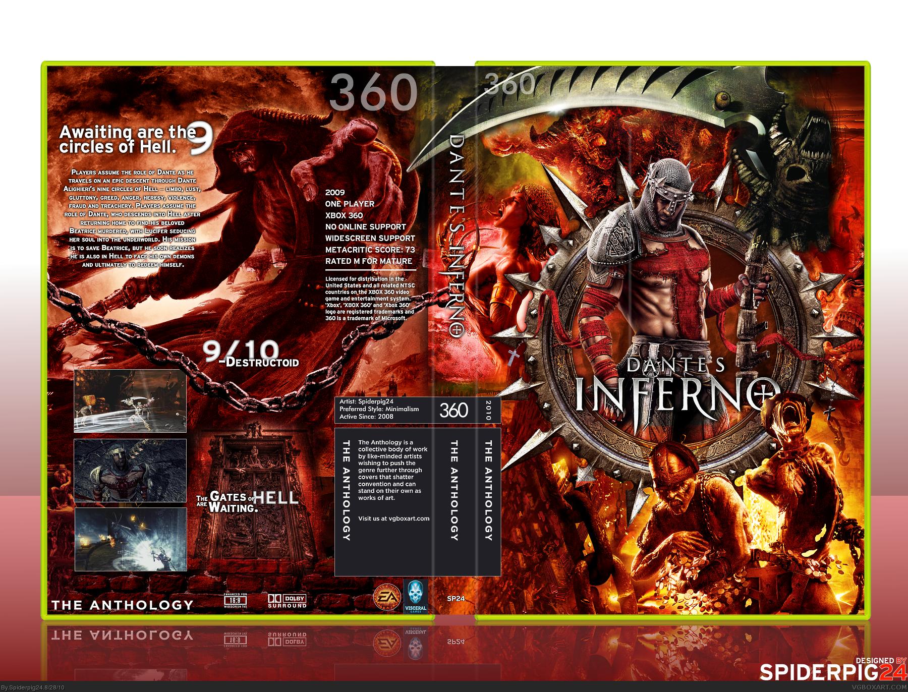 Dante\u0026#39;s Inferno Xbox 360 Box Art Cover by Spiderpig24