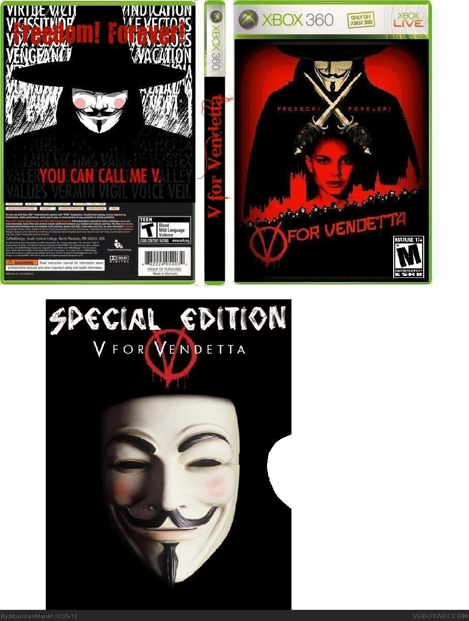 V for Vendetta box cover