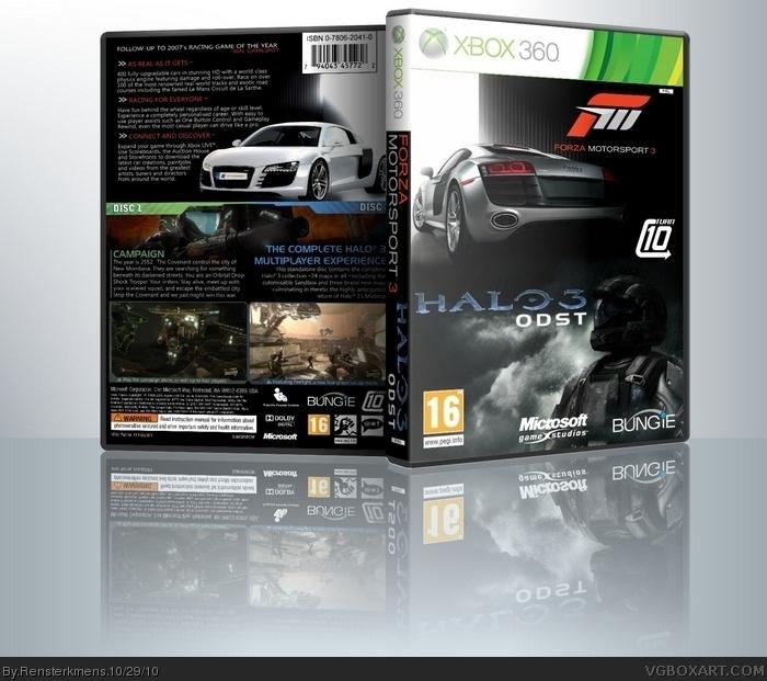 Halo 3 ODST Forza Motorsport Bundle Box Art Cover