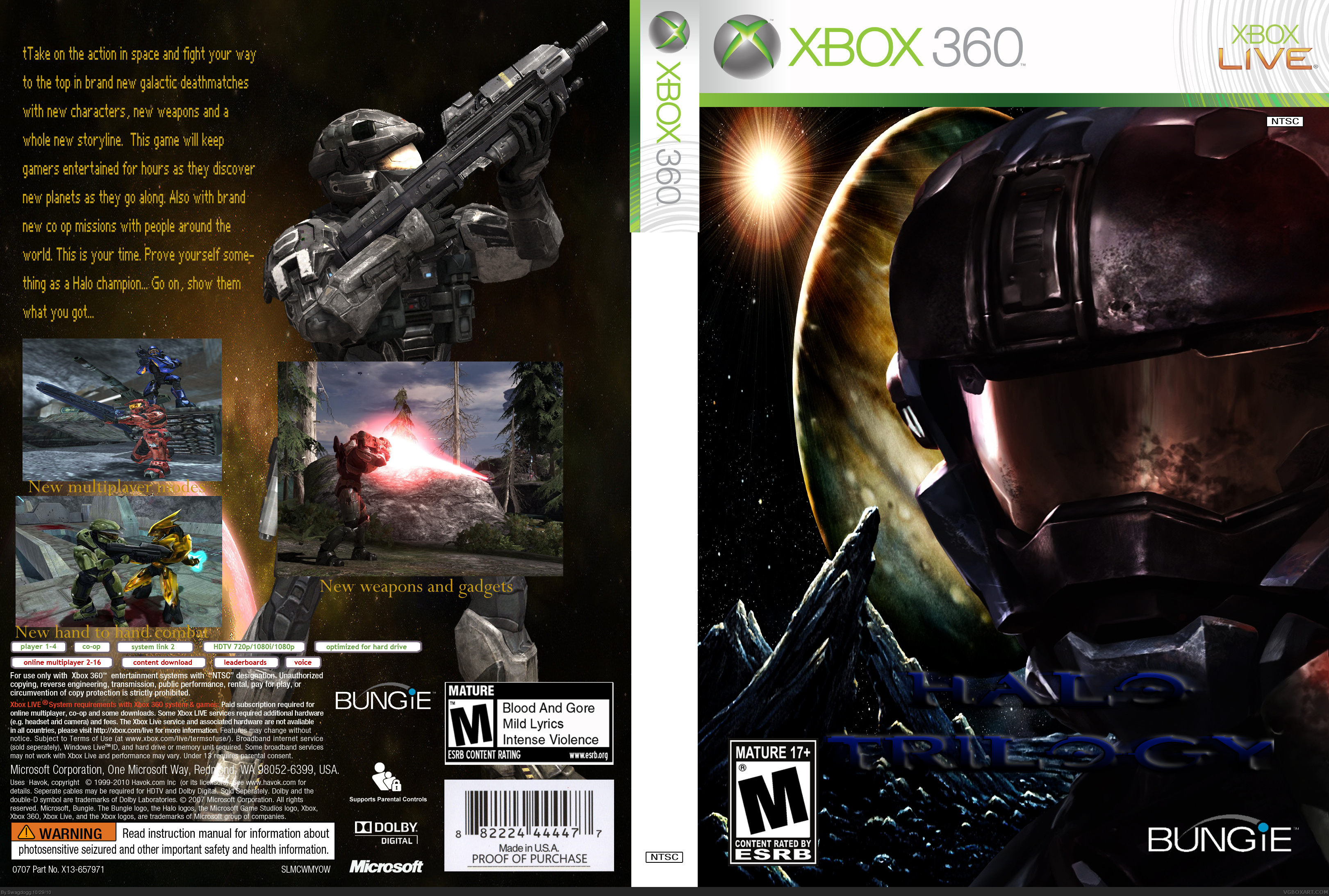 Halo: The Trilogy box cover