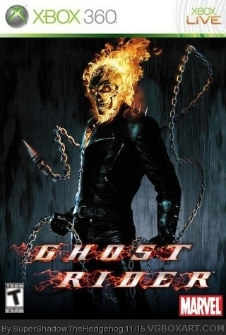 ghost rider xbox 360 box art cover by supershadowthehedgehog