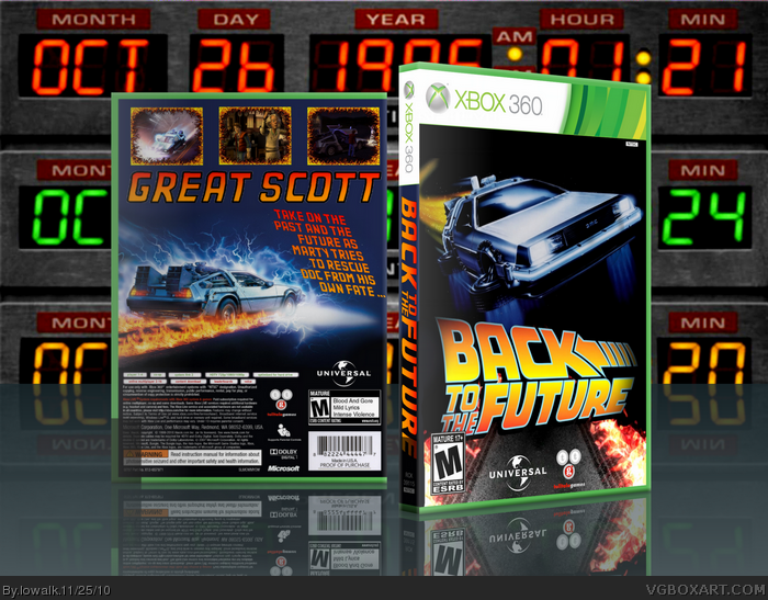 Back To The Future: The Game box art cover