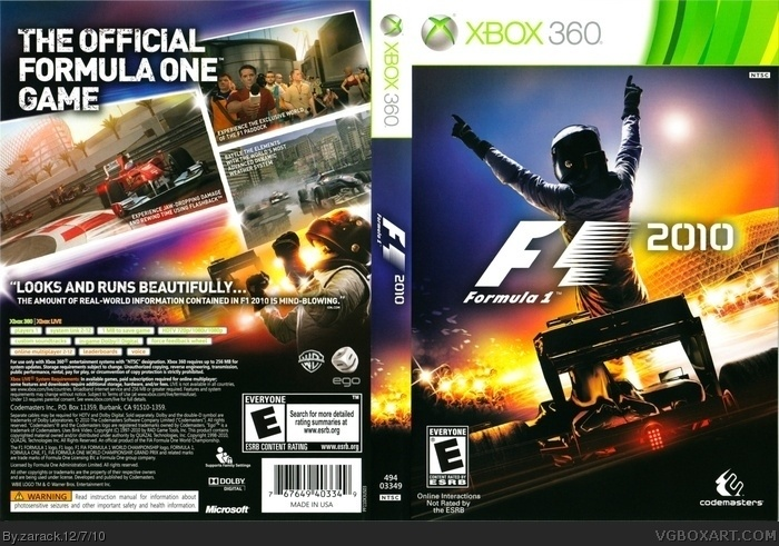 F1 2010 box art cover