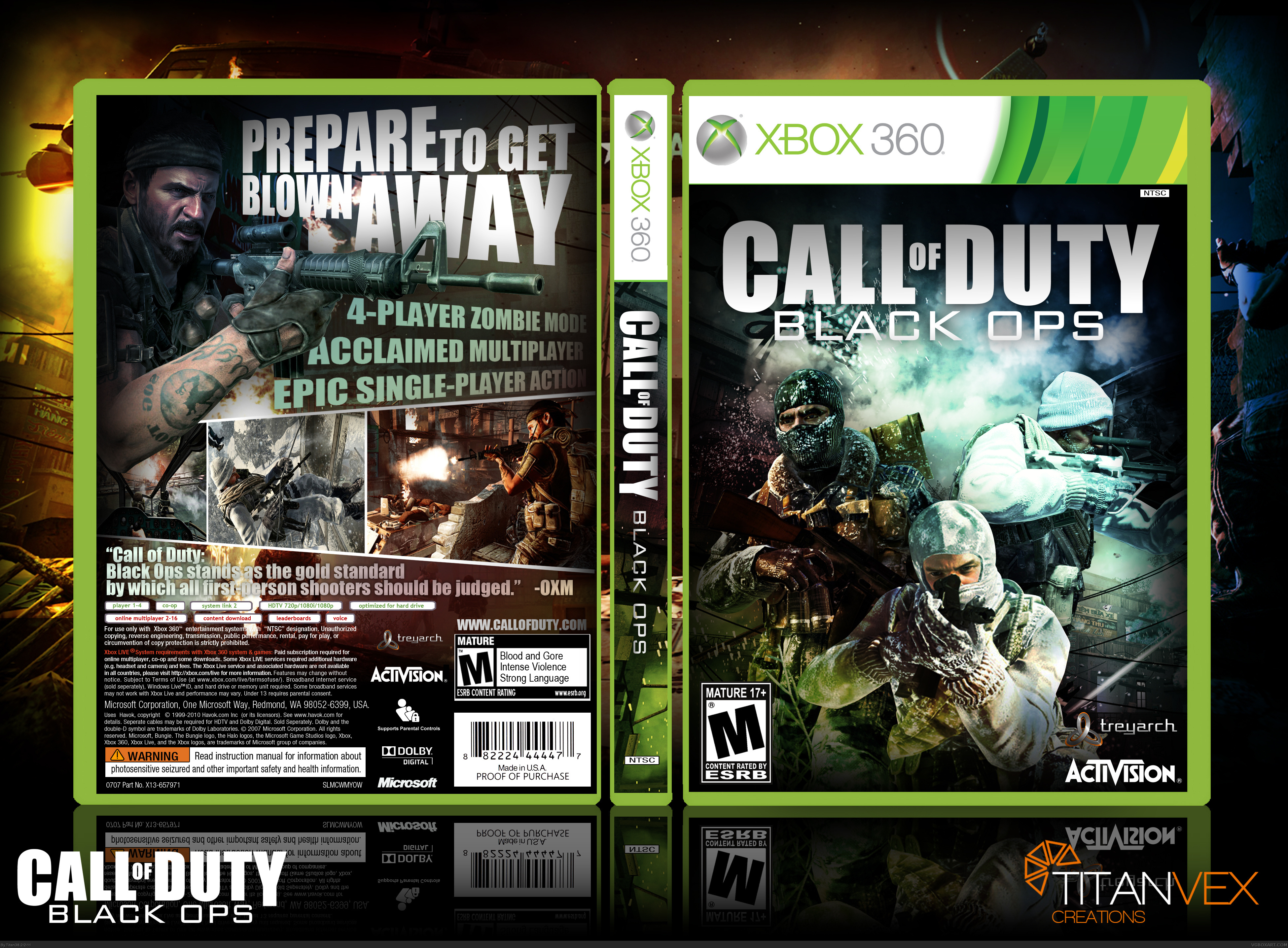 call of duty black ops xbox 360 box art cover by titan38