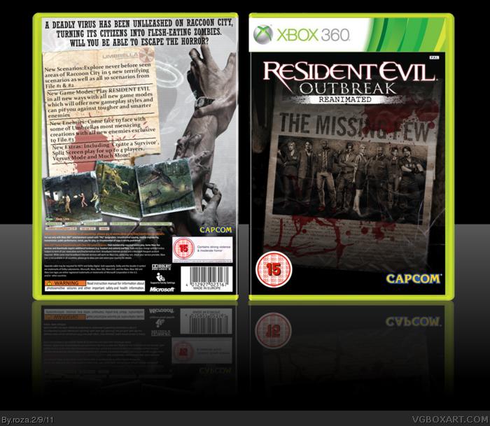 Resident Evil Outbreak Reanimated Xbox 360 Box Art Cover ...
