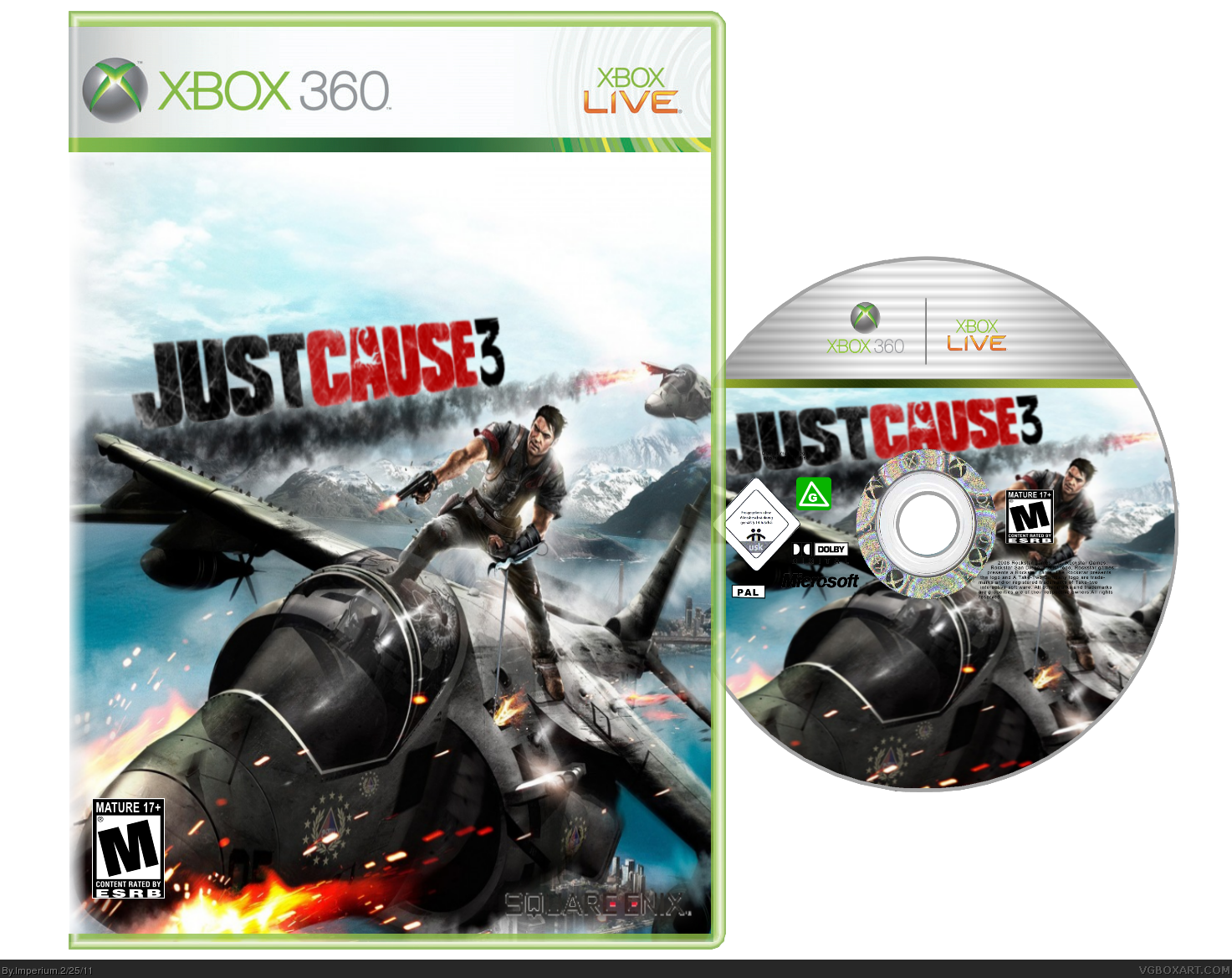 Just cause 3 Xbox 360 Box Art Cover by Imperium
