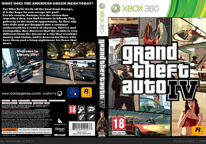 Gta 6 Cover: Grand Theft Auto 4 Xbox 360 Box Art Cover By Terminator